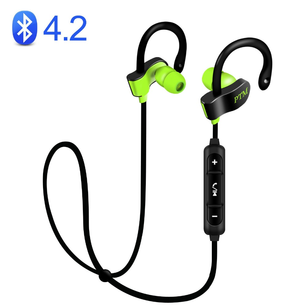 PTM B2 Earphone Wireless Headphone Bluetooth 4.2 Headset With Mic Earbuds for Earpods Airpods