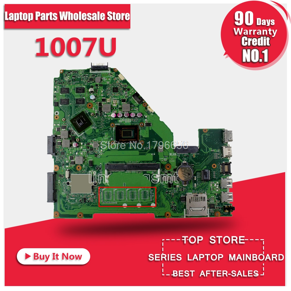 NEW X550CC motherboard for ASUS X550CC R510C R510CC X550CL Y581C laptop Motherboard 1007U 100% Tested original motherboard все цены