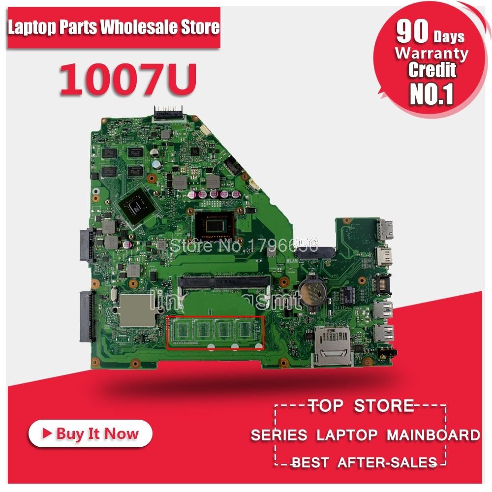 NEW X550CC motherboard for ASUS X550CC R510C R510CC X550CL Y581C laptop Motherboard 1007U 100% Tested original motherboard hot for asus x551ca laptop motherboard x551ca mainboard rev2 2 1007u 100% tested new motherboard