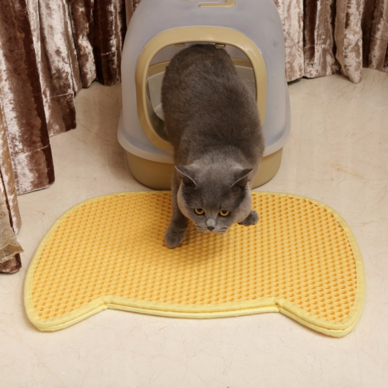 Pet Cat Litter Mat Non Slip Pet Accessories For Cats Mat For Cat Floor Mat For Pets Cats Toilet Anti Skidding Pet Food Mat