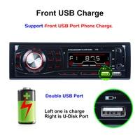 AZGIANT autoradio 12V 2 USB with charging function Bluetooth MP3 card reader Car MP3 wireless transmitter car radio