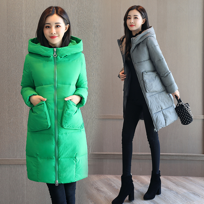 QIMAGE 2017 Fahion Women Long Jacket Coats Female Winter Parka Thick Warm Cotton Padded Overcoat Ladies Outwear Plus Size M-XXL 2017 fashion winter long cotton padded jacket women thick female coat parka warm winter ladies plus size overcoat c387