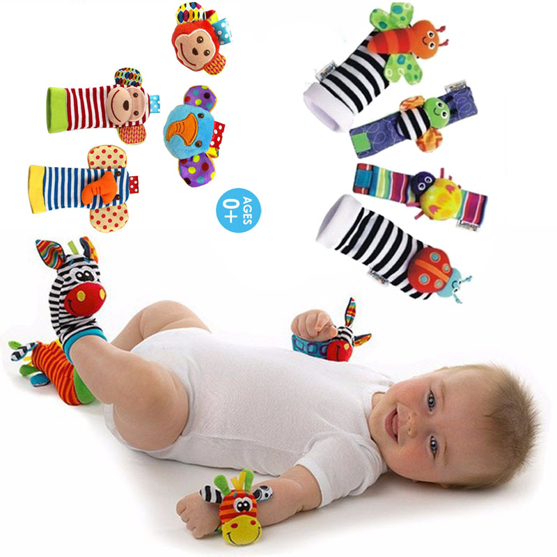 Baby Rattles Baby Toys 0-12 Months For Newborns Infant Kids Children Soft Lion Owl Socks Rattle Toy Wrist Rattle Educational Toy