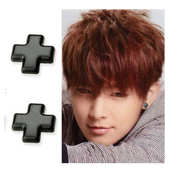8mm Cross Clip On Magnetic Silicone Stud Earrings No Pierced Lady Men S Male Black In From Jewelry Accessories Aliexpress
