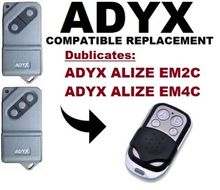 цена на AETERNA TX433 (1,2 & 4 buttons),ALIZE EM2C,ALIZE EM4C  Universal remote control replacement duplicator Fixed code 433.92MHz
