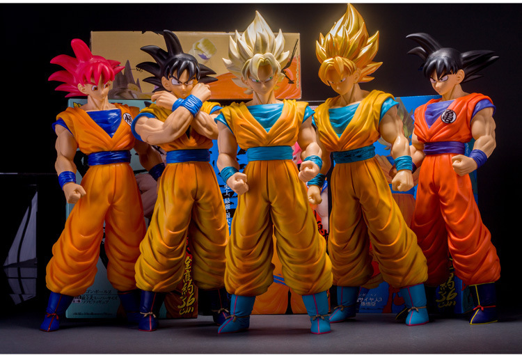 Huong Anime Cartoon Dragon Ball Z Lfi Taille 36 CM Fils Goku PVC Action Figure Collection Modèle Jouets Brinquedos