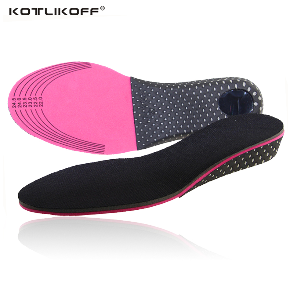KOTLIKOFF Height increase memory foam adjustable elevator shoe cushion insoles foot pad lift 3 5 cm up for women men shoes 4d black white memory foam height increase elevator insoles pads soles for shoes men women shoe foot pad inserts massage
