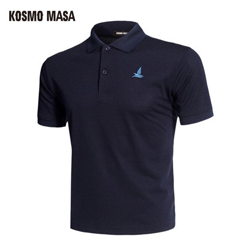 KOSMO MASA algodón negro Polo camisa manga corta Hombre 2018 verano Casual de hombre camisas de Polo seco Slim Fit Polos para los hombres MP0001