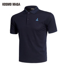 KOSMO MASA Cotton Black Polo Shirt Mens Short Sleeve 2018 Summer Casual Solid Male Polo Shirts Dry Slim Fit Polos for Men MP0001(China)