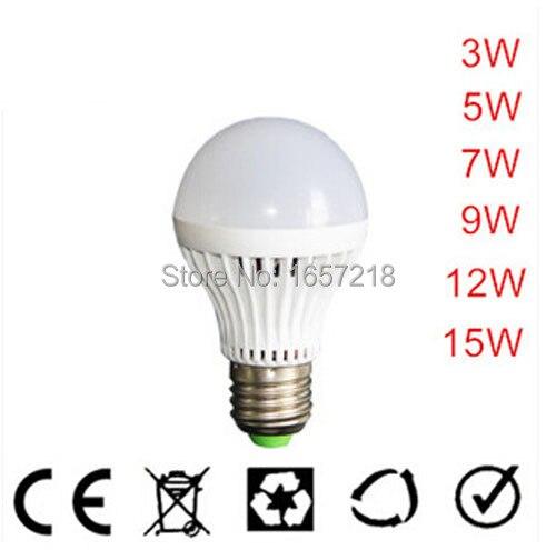 High Power E27 Led Bulb 5730SMD 3W 5W 7W 9W 12W 15W LED Lamp,110V 220V Light Bulb For Home High flux Led Spotlight Lamps