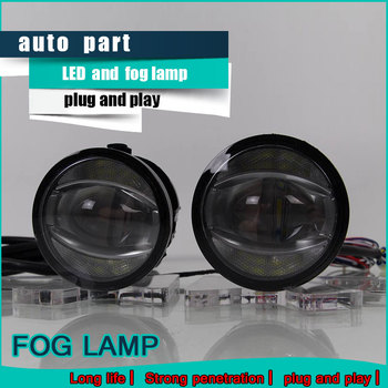 Car Styling Daytime Running Light 2015 for Toyota Reiz LED Fog Light Auto Angel Eye Fog Lamp LED DRL High&Low Beam Fast Shipping