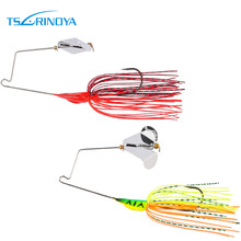 Trulinoya Spinnerbait Lure with Skirts Buzzbait with Reflect Light Metal Blade12g Lure for Bass Fishing Vivic Swimming Lure P43