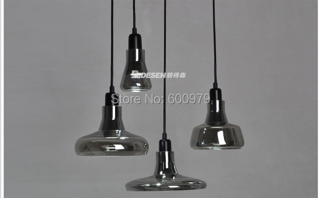Hot selling modern lamp 4 lights    Brokis shadows glass pendant light aslo for wholesale
