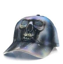 2018 New High Quality Unisex 100% Cotton Outdoor Baseball Cap 3D Skull  Snapback Fashion Sports c4d17cc5594f
