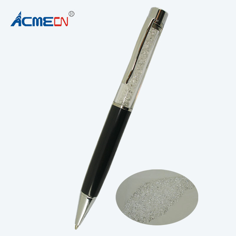 ACMECN Pen with crystal Ballpoint Pen Bling Diamond Decorative Pens Retractable Smooth Writing Instruments Famous Brand Ball Pen acmecn universal crystal ball pen with usb flash drive metal bling diamond mixed color multi function pen 8g memory usb pen