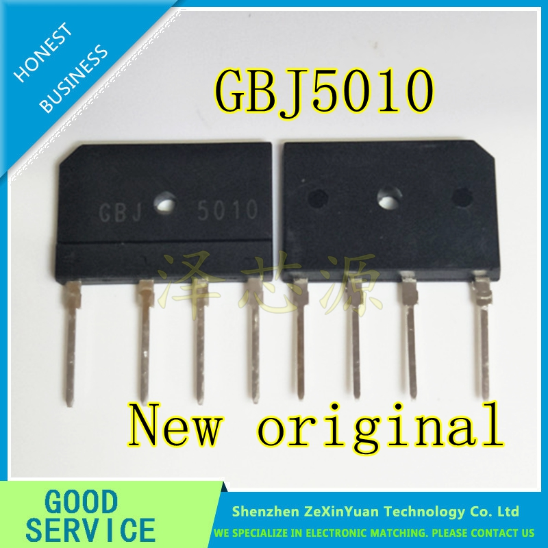 5PCS/LOT KBJ5010 GBJ5010 5010 50A 1000V BRIDGE RECTIFIER