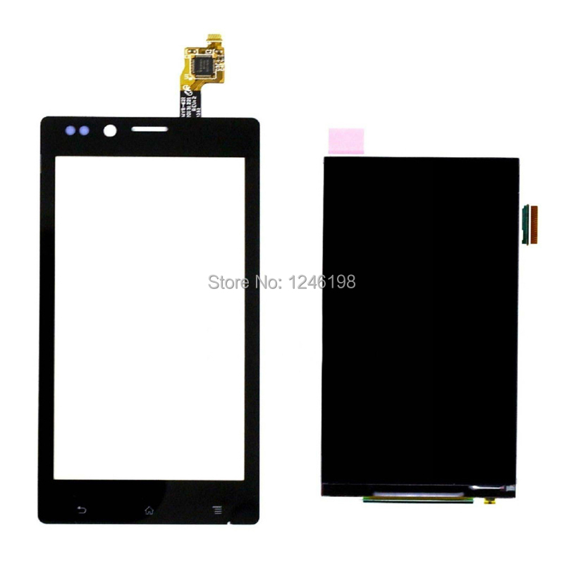 ToP Quality New LCD Display Panel Screen+Touch Screen Digitizer Glass Repair Part Replacement For Sony Xperia J ST26a ST26i ST26 new touch screen glass panel for v708 v708 pow2 repair