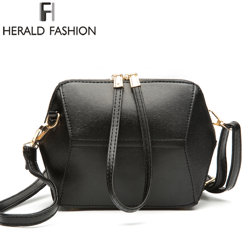 Herald Fashion 2017 New Women Shoulder Bag High Quality PU Leather Handbags Small Fashion Clutches Geometric Messenger Bag pouch