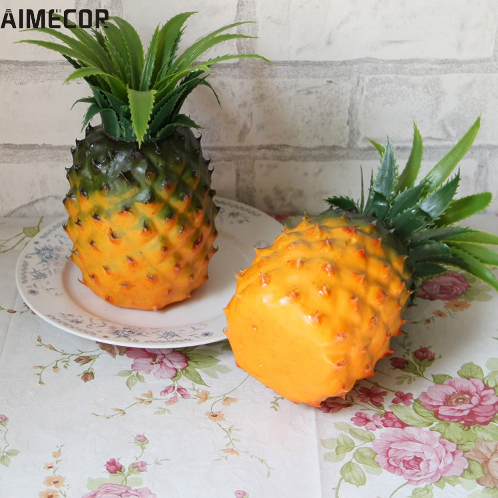 online get cheap artificial pineapple decor aliexpress com home wider aimecor drop shipping home furnishing artificial simulation pineapple plastic decorative fruit jun16 drop shipping