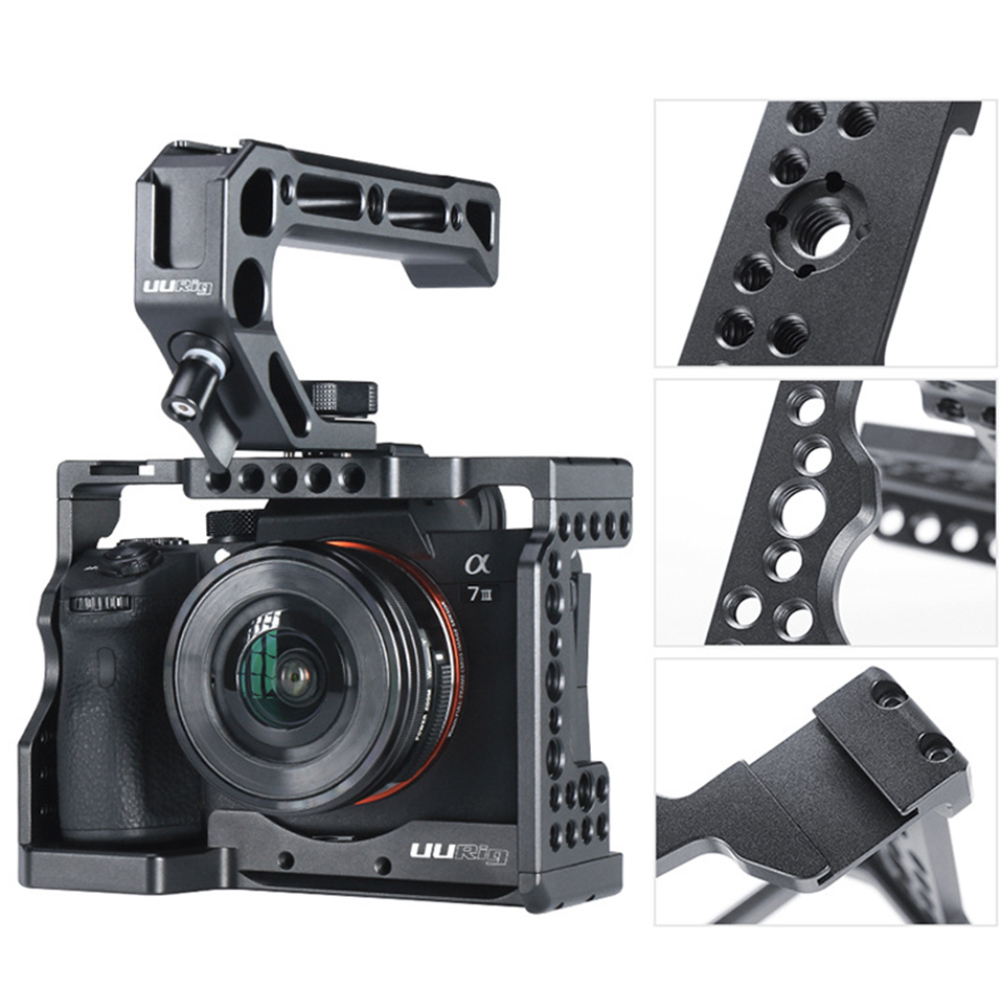 Shell Stabilizer Camera Cage Protective Case Anti-skid Quick Release Durable Metal With Threads Hole Electronics For Sony A7III
