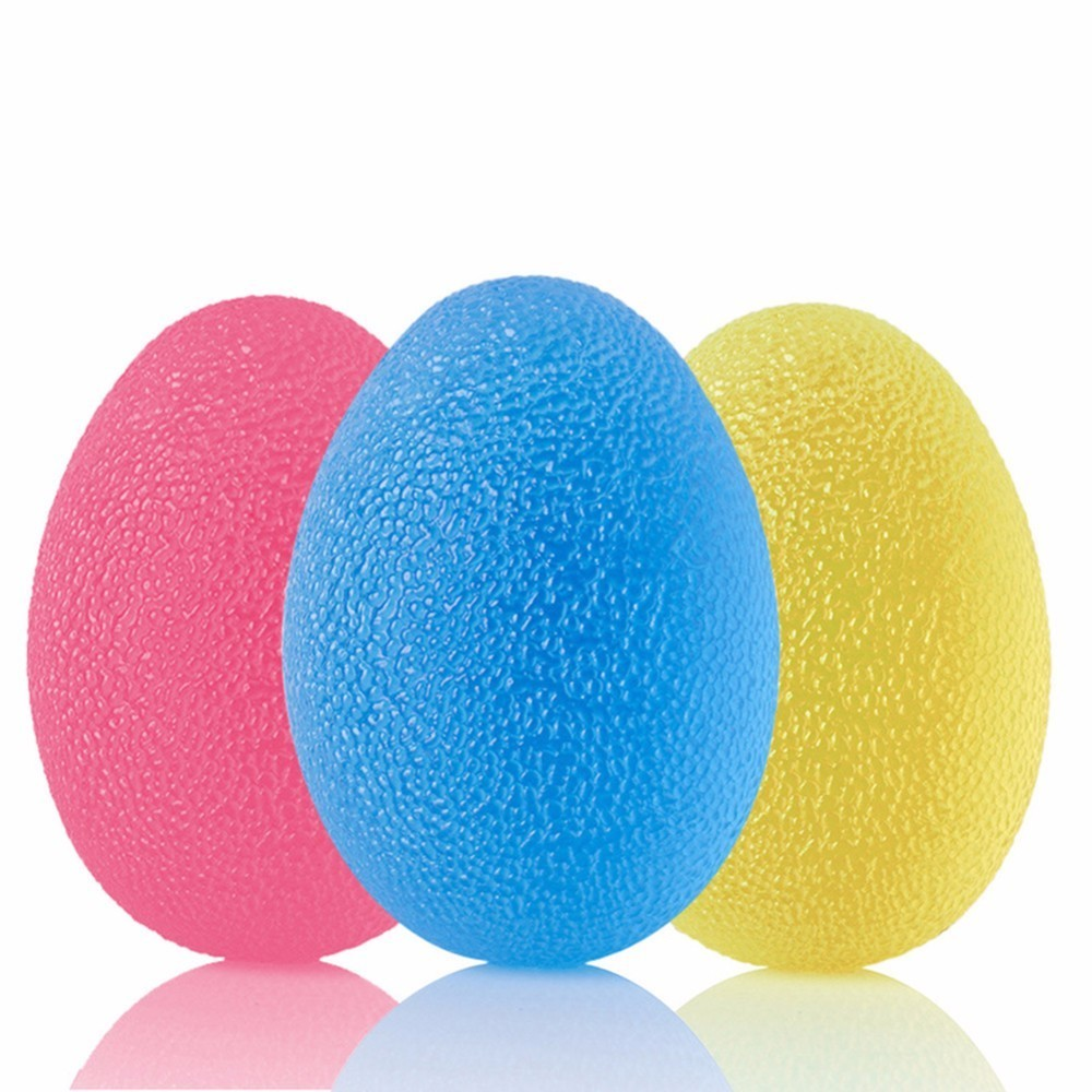 3pcs Silicone Egg-shaped Fitness Relieve Gym Trigger Point Massage Ball Training Fascia Grip Ball Stress Relief Power Ball