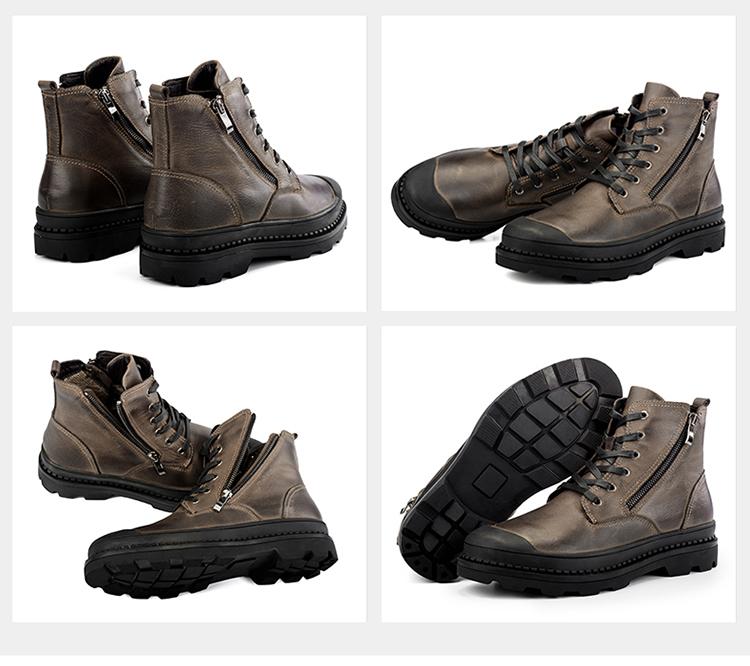 c8f9af4d CLAX męskie buty robocze prawdziwej skóry wiosna jesień bezpieczeństwa buty  męskie na co dzień but skórzany botki Walking obuwie plus rozmiarUSD  39.90/pair