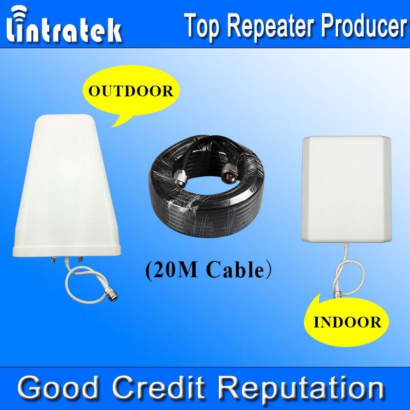 20 Metros de Cabo de Antena de um Conjunto Completo de Acessórios para GSM 900/1800 MHz 3G 850/1900/2100 MHz 4G 2600 MHz Sinal de Celular Repetidor Boosters *