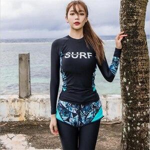 Image 3 - 美しいささやかなイスラムビーチウェアは、フルボディ水着 3 枚イスラム教徒水着長袖ファッション水着ビッグサイズ