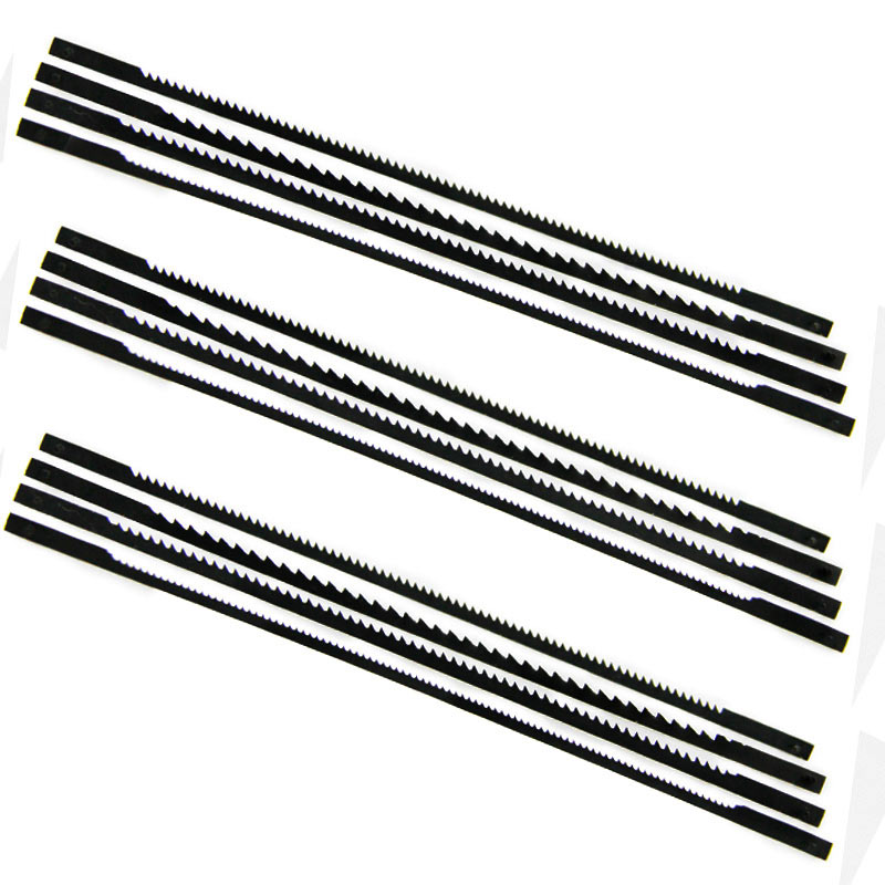 12pcs 125mm Pinned Scroll Saw Blades TPI 10 15 18 24 For Wood Cutting