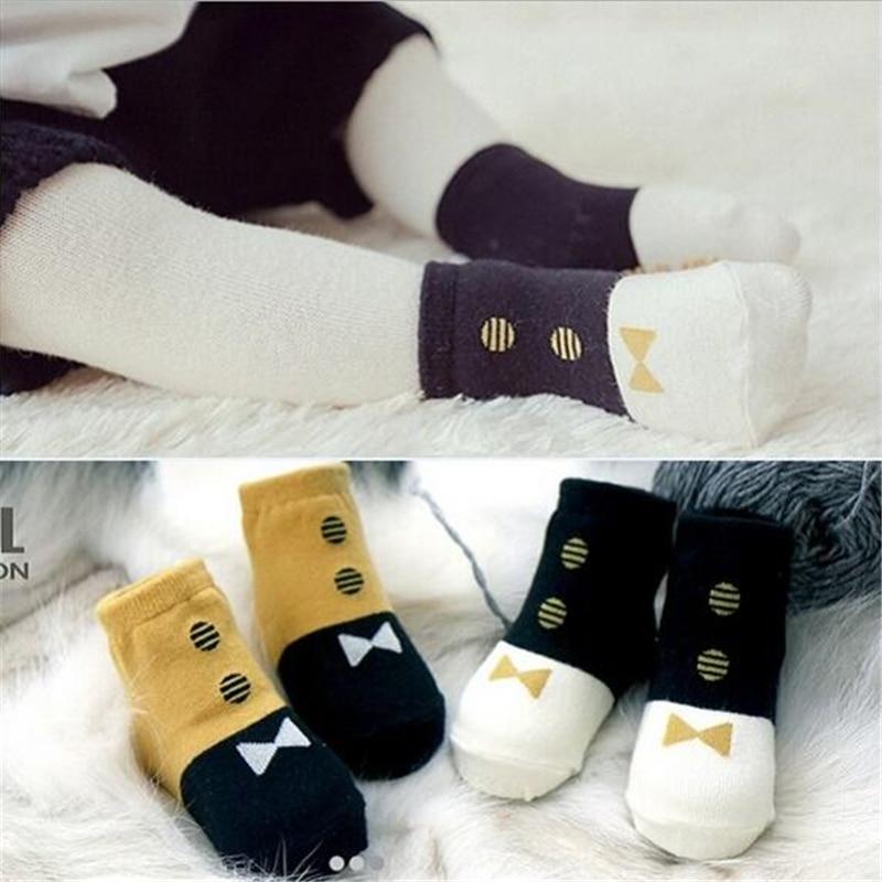 1Pairs Baby Bomullssockor Kids Anti Slip Strumpor Golv Strumpor - Babykläder