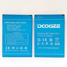 цена на Doogee x3 Battery Replacement 100% Original High Quality 1800mAh Back-up Battery for Doogee x3 Mobile phone + in stock