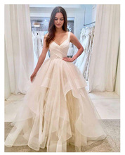Peach Wedding Dress 2019 Princess Dresses Elegant Vestido De Noiva Romantic Bridal Gown Ruched Newest Coming Gowns