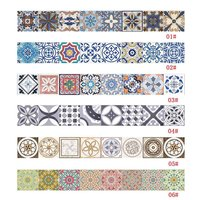 Fashion Waterproof Ceramic Tile Sticker Self Adhesive 3D Floor Wall Stickers For Living Room Bedroom Kitchen