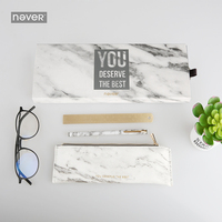 Never Marble Stationeries Set Metal Magnet Pen Pencil Bag Brass Ruler Gift Stationery For Girls Busines Office & School Supplies