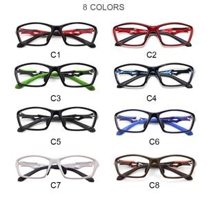 Image 5 - HDCRAFTER tr90 mens sports eye glasses frames fashion prescription myopia hyperopia optical glasses frame for men spectacle