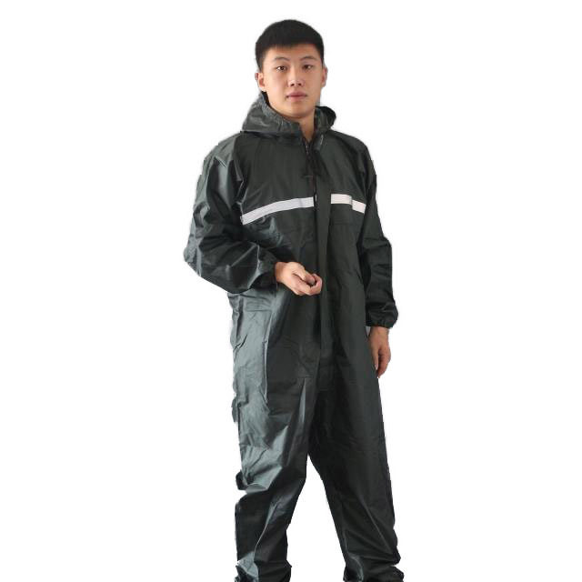 Rain overalls Sets Working coveralls Fishing overalls Waterproof reflective Anti-oily Dust-proof Paint clothes Hooded Safety new men s work clothing reflective strip coveralls working overalls windproof road safety uniform workwear maritime clothing