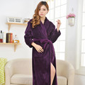 Women Men Bathrobe Winter Robe Loose Long Sleeves Coral Fleece Bathrobes Spa Shawl Unisex Pajama Nightdress Sleep Dress