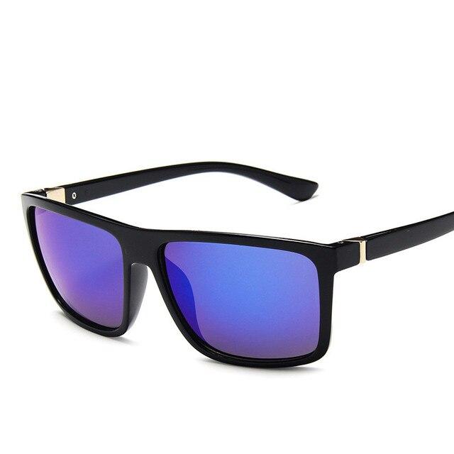 Gafas de sol de diseño clásico para hombre, lentes de sol de marca de lujo, para pescar, conducir, cuadradas, 2019 4