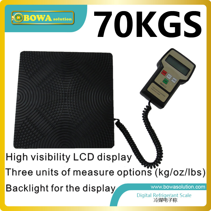 70Kgs capacity Digital refrigerant scale for HVAC and refrigeration to control refrigerant charging capacity 90kgs capacity digital refrigerant scale for hvac and refrigeration refrigerant charging scale