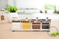 Acrylic Glass Box 304 Stainless Steel Seasoning Seasoning Cans Plastic Kitchenware Home Furnishing Creative Seasoning Box