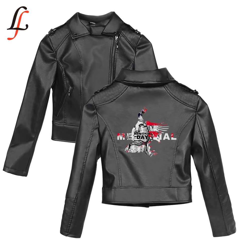 Memorial Day K pop Harajuku Autumn Winter Faux   Leather   Style Solid Print Jackets Basic Women Slim Zipper   Leather   clothing Jacket