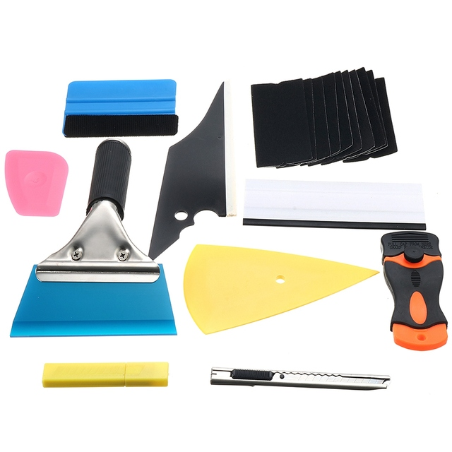 28 In1 Professional Car Window Film Tint Tools Kit Wrap Application Squeegee