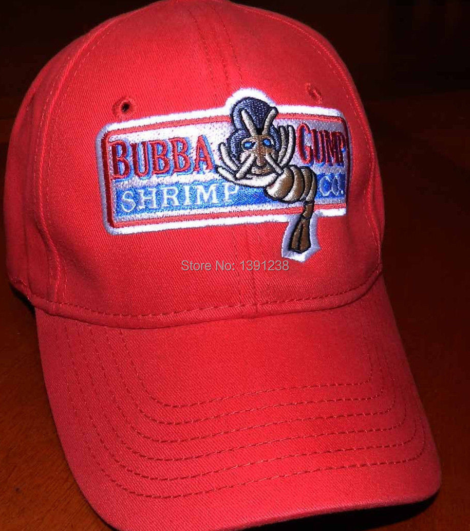 33952592be5 Bubba Gump Shrimp Co hat Run Forrest movie Fan Costume red Cap-in Visors  from Apparel Accessories on Aliexpress.com
