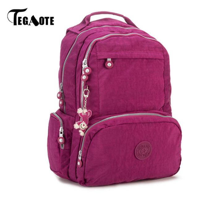 TEGAOTE Backpacks Women School Backpack for Teenage Girls Mochila Feminina Escolar Nylon Travel Laptop Bagpack Female Sac A Dos women backpack mochila backpack for travel sac a dos korean style backpacks for teenage girls high quality bag gift for new year