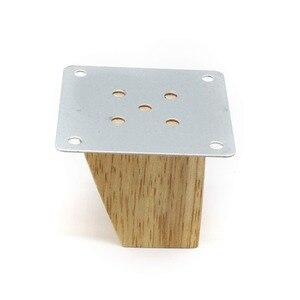 Image 3 - 4 stücke 8cm Höhe Solide Holz Rechten Winkel Trapez Möbel Beine Sofa Bank Closet Kabinett Füße Couch Kommode Sessel fuß