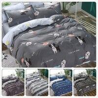 Dog Animal Pattern Duvet Cover Bed Linen Spring Summer Cotton 3/4 pcs Bedding Set Kids Child Single Queen King Full Size 200x220