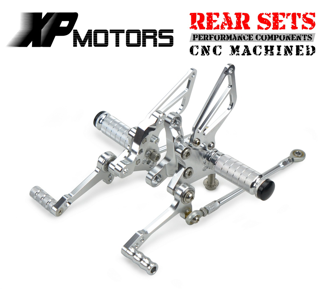 NICECNC Billet CNC Motorcycle Adjustable Rear Footrest Rearsets Foot Pegs Fit For Ducati 848 EVO 2011 2012 2013NICECNC Billet CNC Motorcycle Adjustable Rear Footrest Rearsets Foot Pegs Fit For Ducati 848 EVO 2011 2012 2013