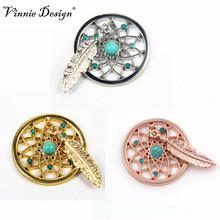 Vinnie Design Jewelry 33MM Dreamcatcher Coin Disc for My Coin Holder Pendant 10pcs/lot