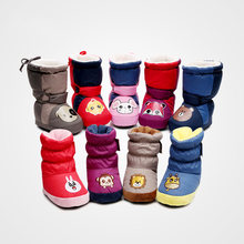Детская Хлопковая обувь; зимняя теплая обувь для младенцев;