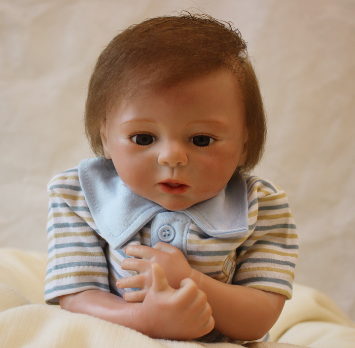 "Здесь продается  real 45 cm New 18"" Lovely doll reborn babies for sale silicone baby dolls for girls toys birthday Xmas new year"